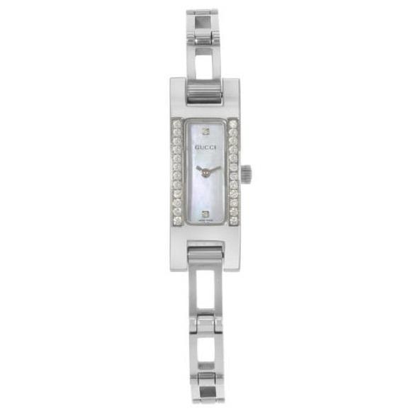 Vintage Gucci diamond pearl watch
